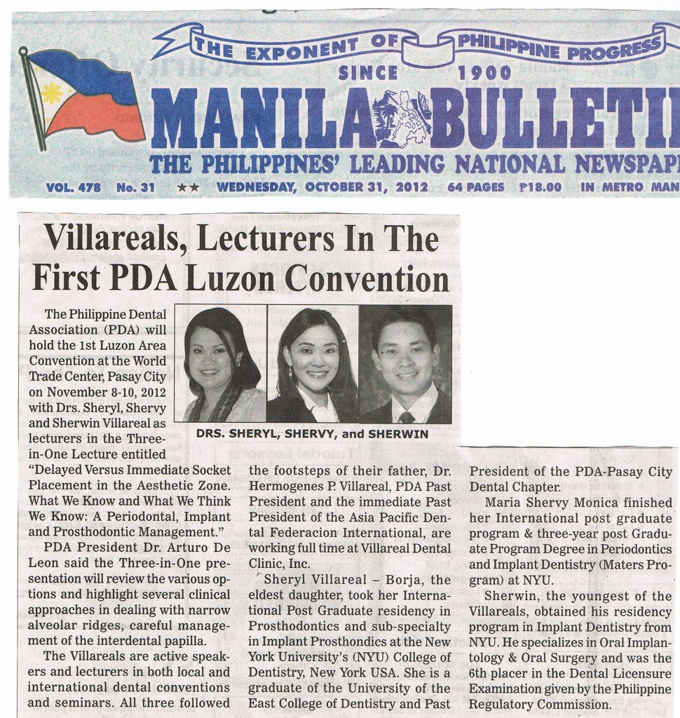 Villareal, Lecturers in the First PDA Luzon Convention